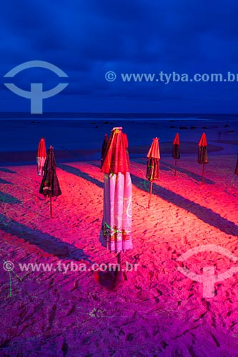 Assunto: Projeção de luzes por raios laser na Praia do Centro  / Local: Distrito de Pipa - Tibau do Sul - Rio Grande do Norte  (RN) - Brasil / Data: 03/2013