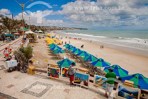 Assunto: Barracas e comércio ambulante na Praia de Ponta Negra / Local: Ponta Negra - Natal - Rio Grande do Norte (RN) - Brasil / Data: 03/2013