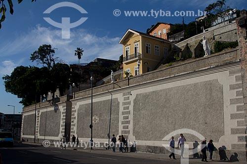Assunto: Jardim Suspenso do Valongo (1906) / Local: Saúde - Rio de Janeiro (RJ) - Brasil / Data: 05/2013