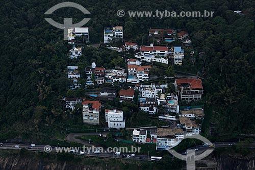 Assunto: Vista aérea do condomínio Ladeira das Yucas na Avenida Niemeyer / Local: São Conrado - Rio de Janeiro (RJ) - Brasil / Data: 05/2012