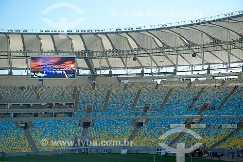 Assunto: Cadeiras e telão do Estádio Jornalista Mário Filho - também conhecido como Maracanã  / Local: Rio de Janeiro (RJ) - Brasil / Data: 05/2013