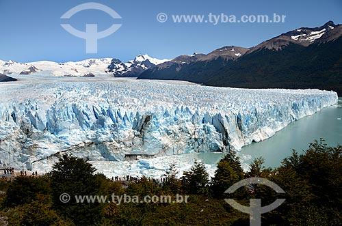 Assunto: Vista geral do Glaciar Perito Moreno (Geleira Perito Moreno) e do Canal de los Témpanos à partir do Mirador Glaciar Perito Moreno / Local: Província de Santa Cruz - Argentina - América do Sul / Data: 01/2012