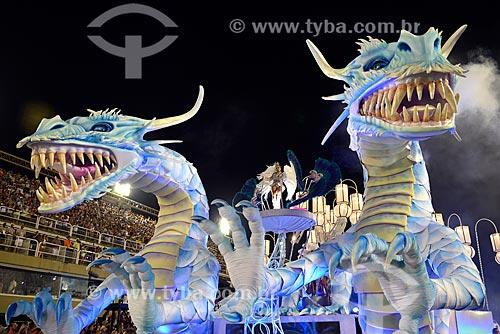 Desfile do Grêmio Recreativo Escola de Samba Inocentes de Belford Roxo - Carro alegórico - Enredo 2013 - As Sete Confluências do Rio Han: Coreia do Sul - 50 Anos de Imigração no Brasil  - Rio de Janeiro - Rio de Janeiro - Brasil