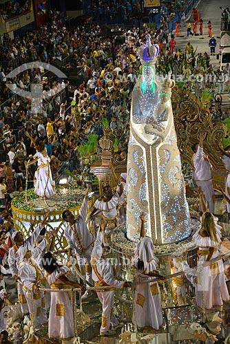 Assunto: Desfile do Grêmio Recreativo Escola de Samba Imperatriz Leopoldinense - Carro alegórico - Enredo 2013 - Pará, o Muiraquitã do Brasil / Local: Rio de Janeiro (RJ) - Brasil / Data: 02/2013