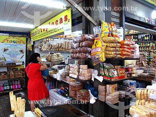 Assunto: Loja com comidas típicas no Centro Luiz Gonzaga de Tradições Nordestinas / Local: São Cristovão - Rio de Janeiro (RJ) - Brasil / Data: 05/2013