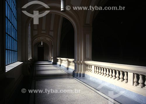 Assunto: Corredor da Sala São Paulo - sede da Orquestra Sinfônica do Estado de São Paulo / Local: São Paulo (SP) - Brasil / Data: 1997