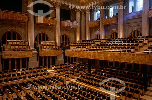 Assunto: Interior da Sala São Paulo - sede da Orquestra Sinfônica do Estado de São Paulo / Local: São Paulo (SP) - Brasil / Data: 1999