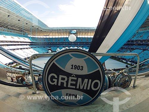 Assunto: Tambor na arquibancada da Arena do Grêmio - foto feita com GoPro / Local: Humaitá - Porto Alegre - Rio Grande do Sul (RS) - Brasil / Data: 12/2012