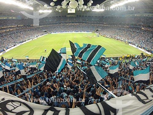 Assunto: Inauguração da Arena do Grêmio - amistoso entre Grêmio x Hamburgo (HOL) - foto feita com GoPro / Local: Humaitá - Porto Alegre - Rio Grande do Sul (RS) - Brasil / Data: 12/2012