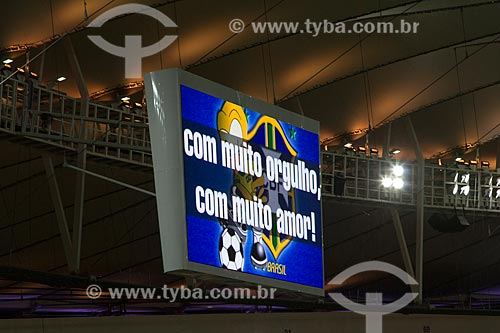 Assunto: Novo placar eletrônico do Estádio Jornalista Mário Filho - também conhecido como Maracanã - Jogo amistoso entre Brasil X Inglaterra / Local: Maracanã - Rio de Janeiro (RJ) - Brasil / Data: 06/2013