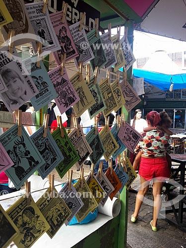 Assunto: Cordéis à venda na Centro Luiz Gonzaga de Tradições Nordestinas - foto feita com celular Samsung Galaxy S3 / Local: São Cristovão - Rio de Janeiro (RJ) - Brasil / Data: 05/2013