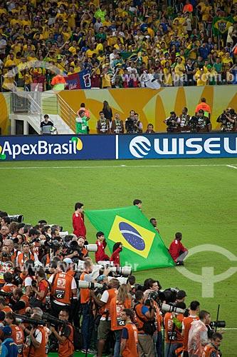 Assunto: Fotógrafos durante o jogo entre Brasil x Espanha pela final da Copa das Confederações no Estádio Jornalista Mário Filho - também conhecido como Maracanã  / Local: Maracanã - Rio de Janeiro (RJ) - Brasil / Data: 06/2013