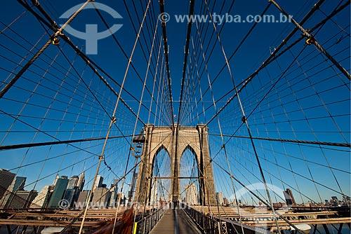 Assunto: Ponte do Brooklyn (1883) / Local: Nova Iorque - Estados Unidos da América - EUA / Data: 01/2013
