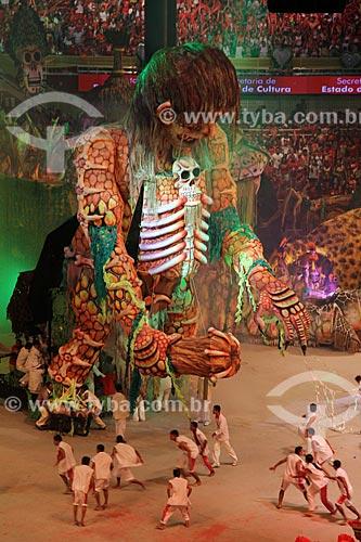 Assunto: Festival de Folclore de Parintins - Apresentação do Boi Garantido / Local: Parintins - Amazonas (AM) - Brasil / Data: 07/2013