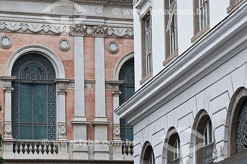 Assunto: Detalhe da fachada do Centro Cultural da Justiça Eleitoral (CCJE) / Local: Centro - Rio de Janeiro (RJ) - Brasil / Data: 06/2013