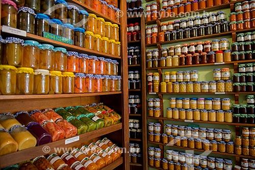 Assunto: Doces em compotas à venda em loja  / Local: Tiradentes - Minas Gerais (MG) - Brasil / Data: 03/2013