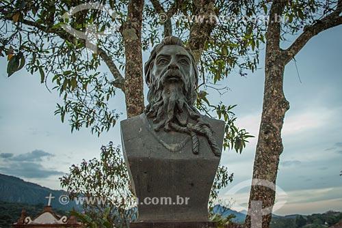 Assunto: Busto de Joaquim José da Silva Xavier, conhecido como Tiradentes na Praça da Câmara / Local: Tiradentes - Minas Gerais (MG) - Brasil / Data: 03/2013