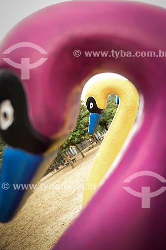 Assunto: Pedalinhos em forma de cisne na Ilha de Paquetá / Local: Paquetá - Rio de Janeiro (RJ) - Brasil / Data: 04/2013