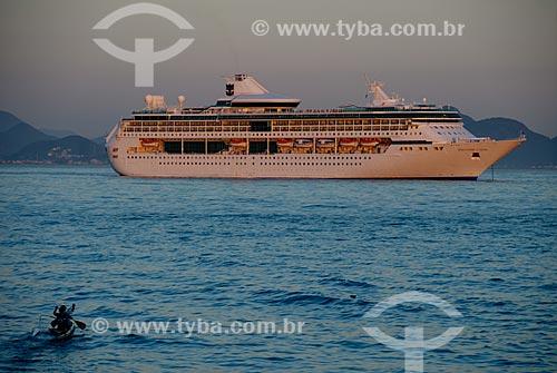 Assunto: Transatlântico na Baía de Guanabara / Local: Rio de Janeiro (RJ) - Brasil / Data: 12/2007