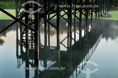 Assunto: Reflexo do píer do Balneário de Lagoa Santa / Local: Lagoa Santa - Goiás (GO) - Brasil / Data: 07/2013