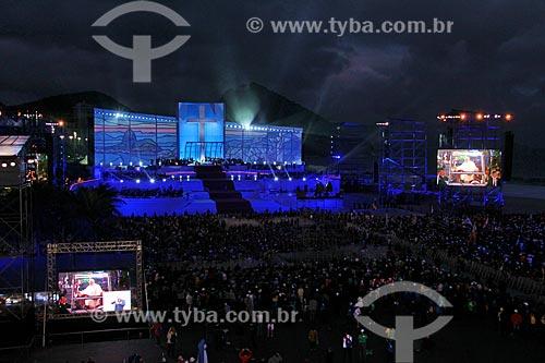 Assunto: Missa do Papa Francisco (1936 - ) no palco principal da  Jornada Mundial da Juventude / Local: Copacabana - Rio de Janeiro (RJ) - Brasil / Data: 07/2013