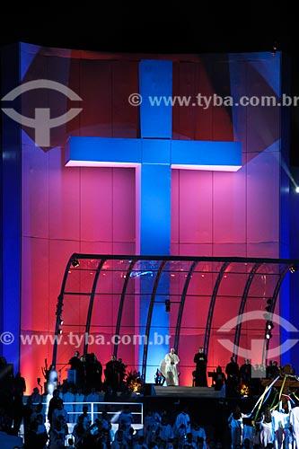 Assunto: Papa Francisco (1936 - ) no palco principal da  Jornada Mundial da Juventude / Local: Copacabana - Rio de Janeiro (RJ) - Brasil / Data: 07/2013