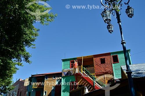 Assunto: Detalhes das casas na Rua Museu Caminito / Local: La Boca - Buenos Aires - Argentina - América do Sul / Data: 01/2012