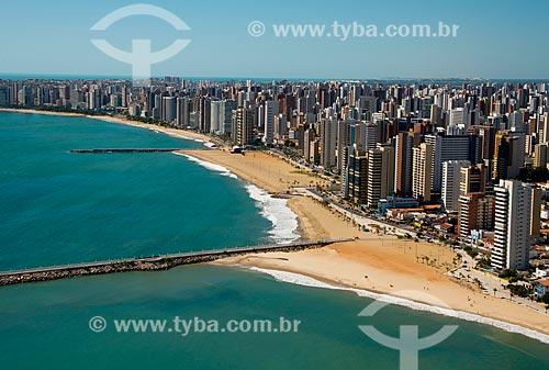 Assunto: Vista aérea da orla de Fortaleza com o espigão da Praia de Iracema / Local: Fortaleza - Ceará (CE) - Brasil / Data: 06/2013