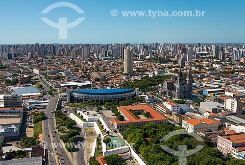 Assunto: Vista aérea da Praça dos Mártires (1890), Fortaleza de Nossa Senhora da Assunção (1860) e do Mercado Central de Fortaleza (1975) / Local: Fortaleza - Ceará (CE) - Brasil / Data: 06/2013