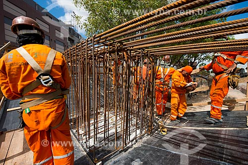 Assunto: Canteiro de obras da construção sistema de veículo leve sobre trilhos (VLT) de Fortaleza / Local: Fortaleza - Ceará (CE) - Brasil / Data: 05/2013