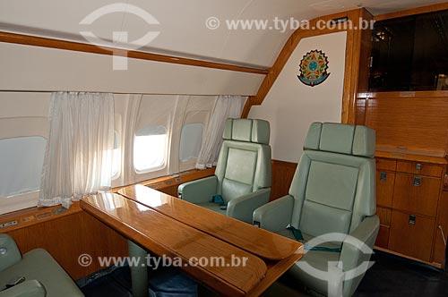 Assunto: Interior do Boeing 737 - utilizado como avião presidencial - em exposição no Museu Aeroespacial / Local: Campo dos Afonsos - Rio de Janeiro (RJ) - Brasil / Data: 08/2012
