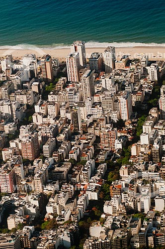 Assunto: Vista aérea a Praia de Ipanema - entre as ruas Vinícius de Moraes e Farme de Amoedo / Local: Ipanema - Rio de Janeiro (RJ) - Brasil / Data: 08/2012