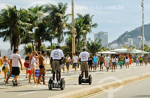 Assunto: Guarda Municipal do Rio de Janeiro patrulhando a orla com o Segway Personal Transporter / Local: Rio de Janeiro (RJ) - Brasil / Data: 10/2011