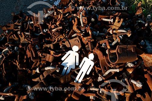 Assunto: Lixo no antigo Forte de Copacabana, atual Museu Histórico do Exército após a Exposição Humanidades na conferência Rio + 20 / Local: Copacabana - Rio de Janeiro (RJ) - Brasil / Data: 07/2012