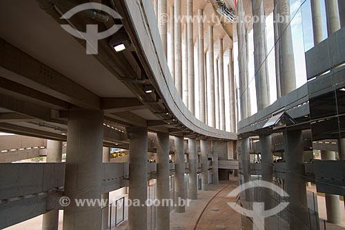 Assunto: Rampa de acesso ao Estádio Nacional de Brasília Mané Garrincha (1974) antes do jogo entre Brasil x Japão - pela abertura da Copa das Confederações / Local: Brasília - Distrito Federal (DF) - Brasil / Data: 06/2013