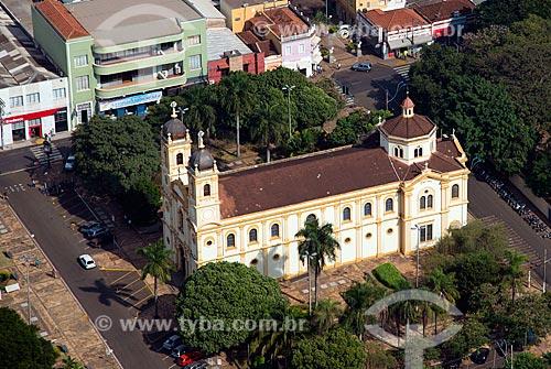 Assunto: Vista aérea da Catedral do Divino Espírito Santo (1877) / Local: Barretos - São Paulo (SP) - Brasil / Data: 05/2013