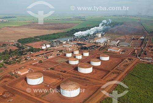 Assunto: Vista aérea da Usina Andrade pertencente a Guarani S.A. / Local: Pitangueiras - São Paulo (SP) - Brasil / Data: 05/2013