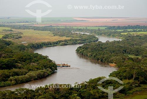 Assunto: Vista aérea do Rio Mogi Guaçú próximo à Pitangueiras / Local: Pitangueiras - São Paulo (SP) - Brasil / Data: 05/2013