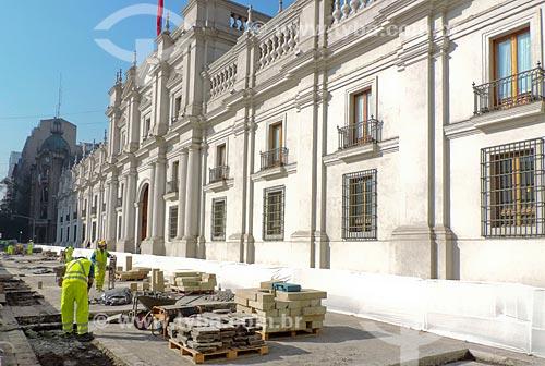 Assunto: Reforma no Palácio de La Moneda (1805) - sede do governo do Chile / Local: Santiago - Chile - América do Sul / Data: 05/2013