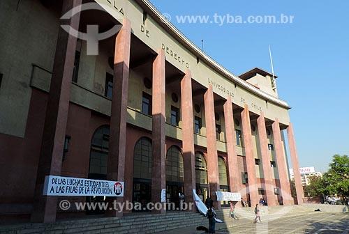 Assunto: Fachada do prédio da Facultad de Derecho - Universidad de Chile (Faculdade de direito - Universidade do Chile) / Local: Santiago - Chile - América do Sul / Data: 05/2013