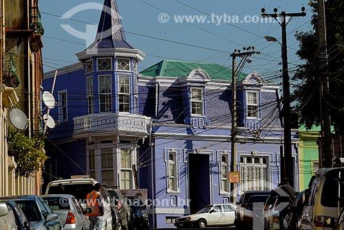 Assunto: Casario histórico no Cerro Artillería (Morro Artilharia) / Local: Valparaíso - Chile - América do Sul / Data: 05/2013