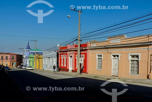 Assunto: Casarios no Cerro Artillería (Morro Artilharia) / Local: Valparaíso - Chile - América do Sul / Data: 05/2013