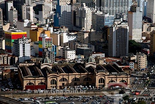 Assunto: Vista aérea do Mercado Municipal de São Paulo (1933) - também conhecido como Mercado Municipal da Cantareira / Local: São Paulo (SP) - Brasil / Data: 06/2013