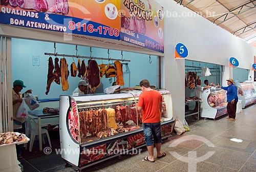 Assunto: Mercado Cultural Caparrosa (Mercado Municipal) - setor de carnes / Local: Barreiras - Bahia (BA) - Brasil / Data: 07/2013