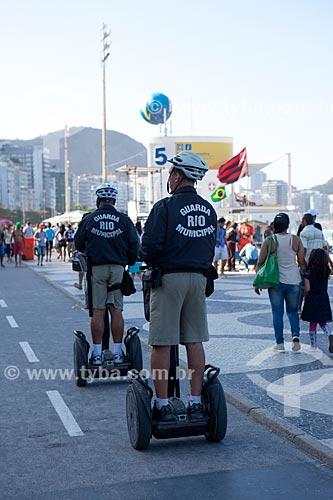 Assunto: Policiais patrulhando a Praia de Copacabana com Segway Personal Transporter durante a Jornada Mundial da Juventude (JMJ) / Local: Copacabana - Rio de Janeiro (RJ) - Brasil / Data: 07/2013