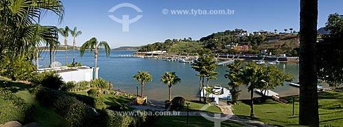 Assunto: Casas de luxo às margens da Represa de Furnas / Local: Escarpa do Lago - Capitólio - Minas Gerais (MG) - Brasil / Data: 07/2013
