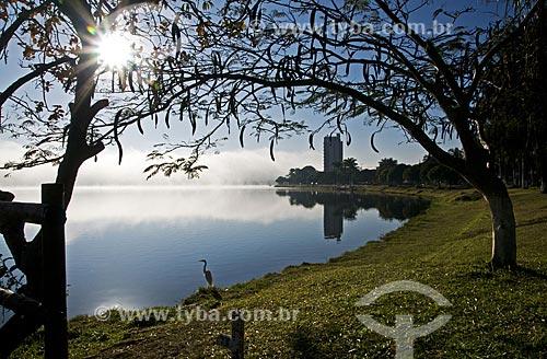 Assunto: Garça nas margens da Represa de Furnas / Local: Boa Esperança - Minas Gerais (MG) - Brasil / Data: 07/2013