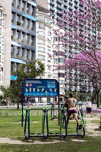 Assunto: Simulador de caminhada em Academia da Terceira Idade na Praça Cuauhtémoqua / Local: Flamengo - Rio de Janeiro (RJ) - Brasil / Data: 08/2013