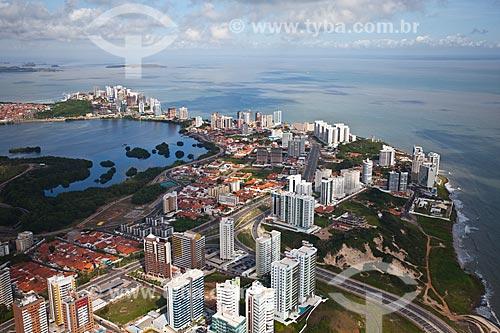 Assunto: Vista aérea do bairro de São Marcos com a  Lagoa Jansen à esquerda / Local: São Marcos - São Luis - Maranhão (MA) - Brasil / Data: 06/2013