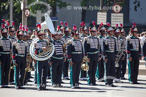 Assunto: Banda da Academia Militar das Agulhas Negras (AMAN) - durante o desfile em comemoração ao Sete de Setembro na Avenida Presidente Vargas / Local: Centro - Rio de Janeiro (RJ) - Brasil / Data: 09/2013